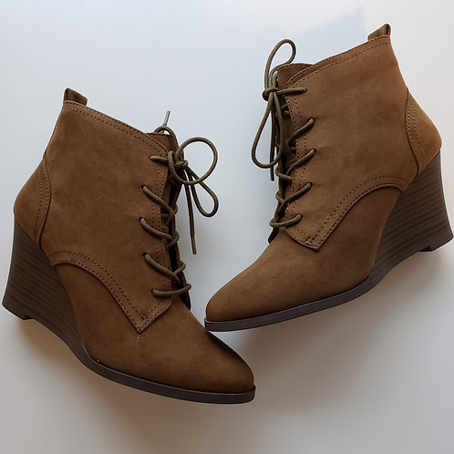 Eleanor Suede Lace Up Wedges