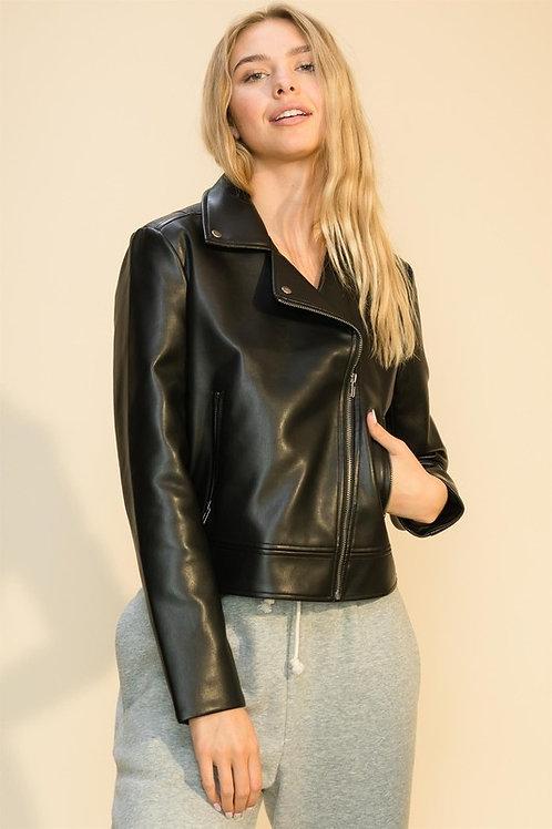 Kanicki Faux Leather Biker Jacket