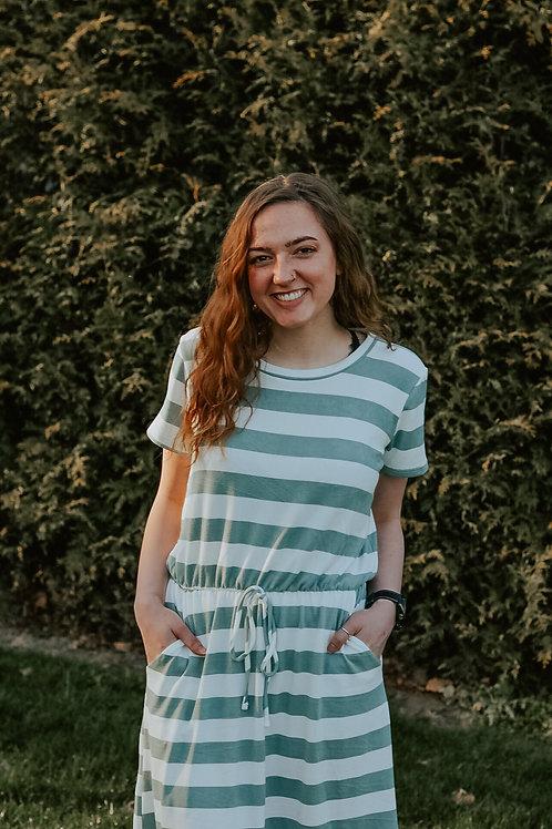 Jessalyn Striped Cinch Waist Dress