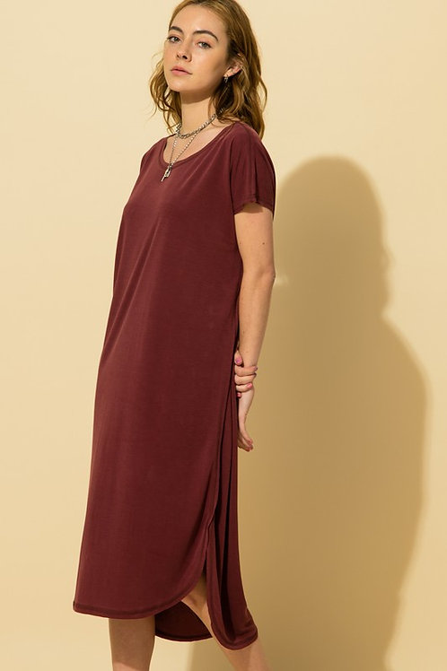 Sarah Wine Dress