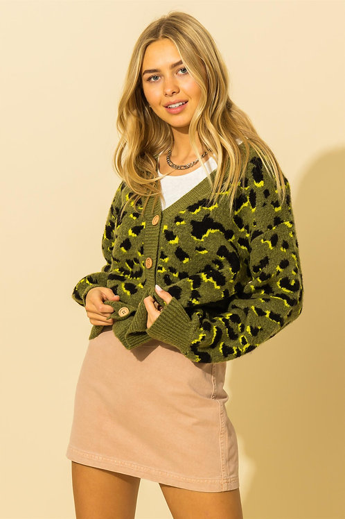 Kenzie Leopard Print Cardigan