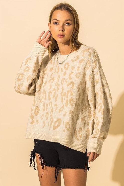 Marina Leopard Print Sweater