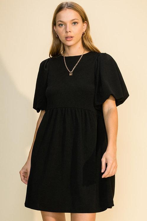 Harlow Puff Sleeve Knit Dress