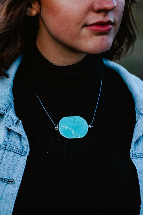 Lost in Beauty Turquoise Pendant Necklace