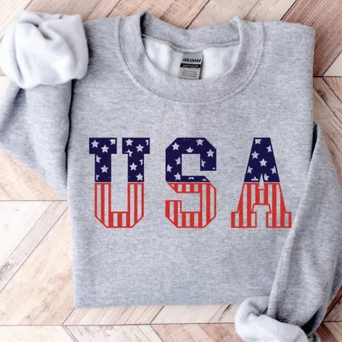 USA Vintage Inspired Pullover