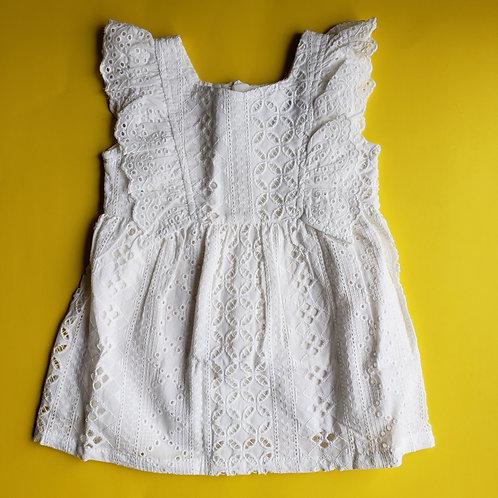 Addy White Ruffle Dress