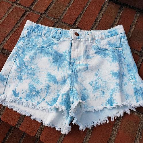 Summer Loving Tie Dye Denim Shorts