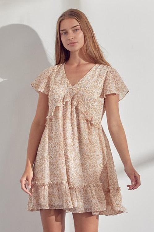 Lily Floral Print Mini Dress