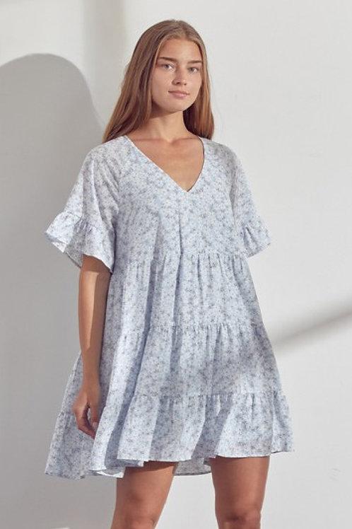 Clover Floral Mini Dress