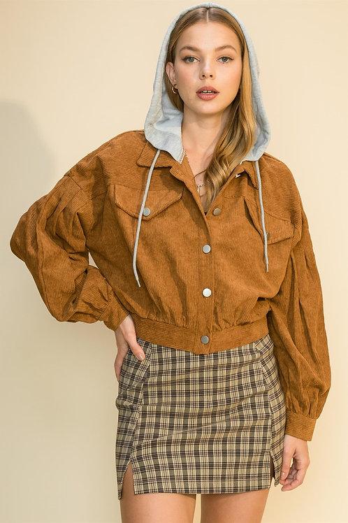 Cosima Corduroy Hooded Jacket
