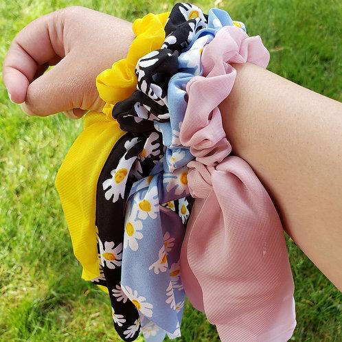 Summer Flowy Ribbon Scrunchies
