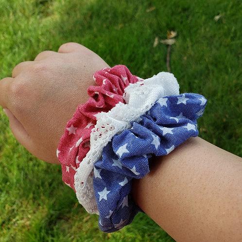 Red, White, & Blue Scrunchie Set