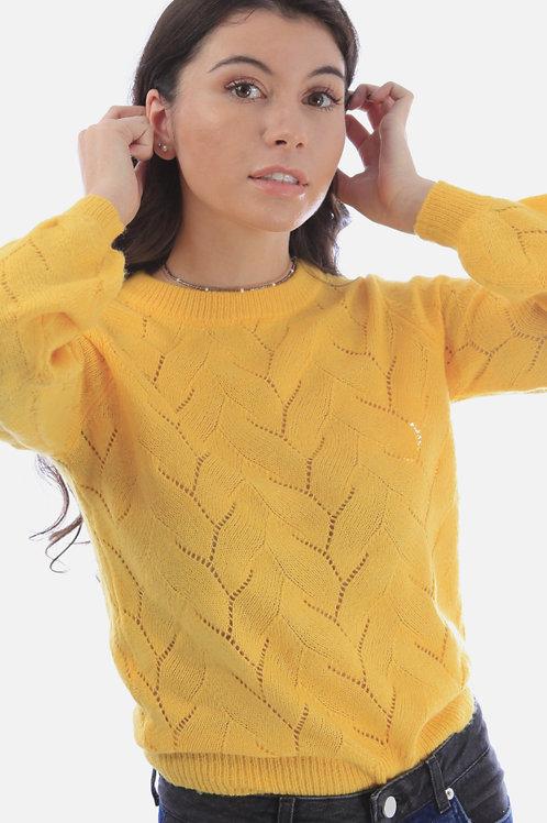 Seraphine Pointelle Knit Sweater