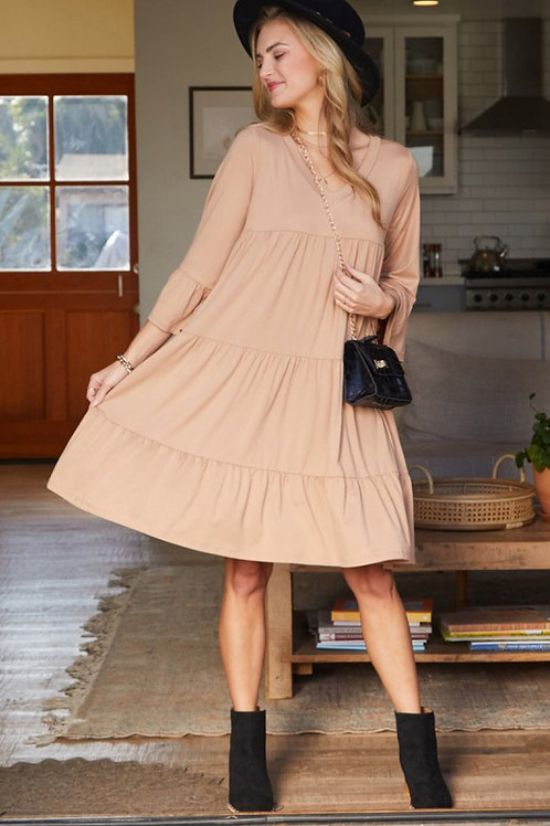 Courtney Tiered Bell Sleeve Dress