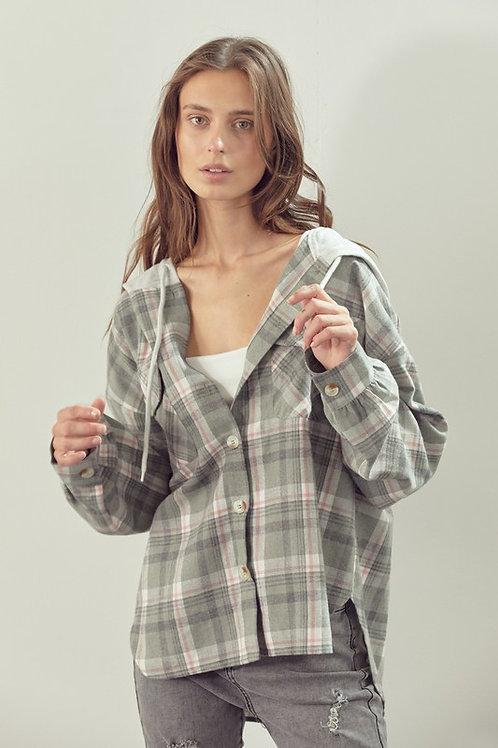 Esme Oversized Flannel Hoodie