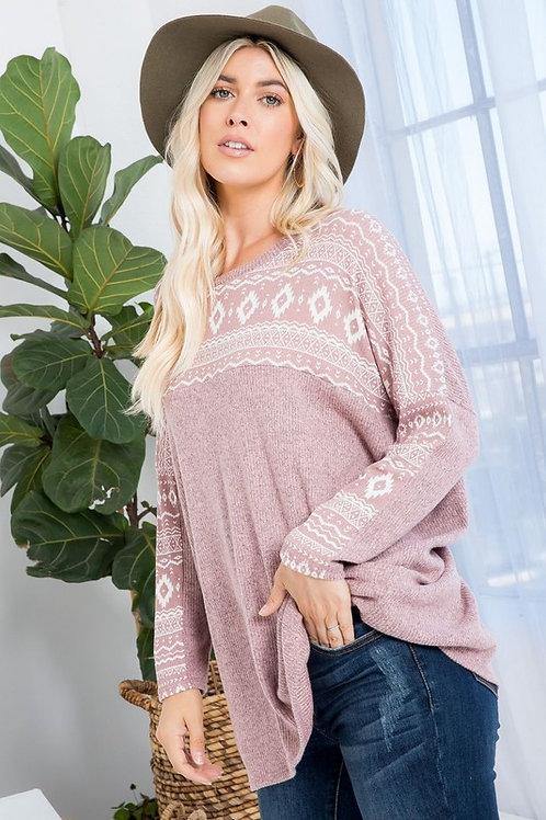 Rachel Ribbed Oversized Tunic Top
