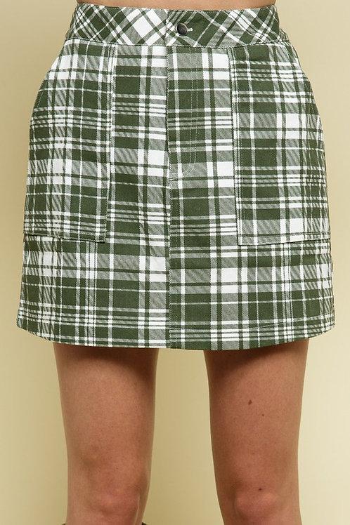 Izzy Plaid Mini Skirt