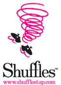 Shuffles tap logo and link