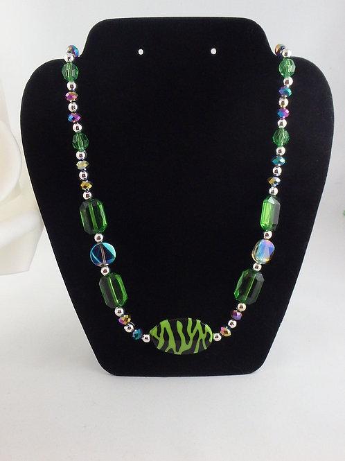 Green Safari Children's Dress Up Necklace
