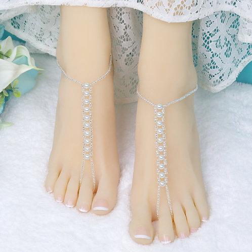 Mariah - Pearl Barefoot Sandal