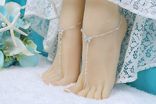 Vanessa - Swarovski Butterfly Barefoot Sandal