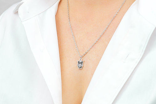 Owl - Silver Necklace
