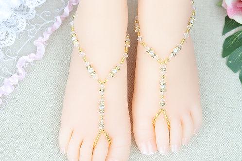 Jr Anahita Gold - Swarovski Crystal Sandal