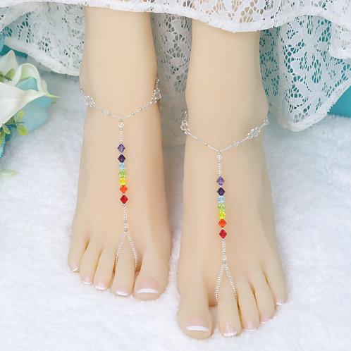 Bali - Crystal Chakra Barefoot Sandal