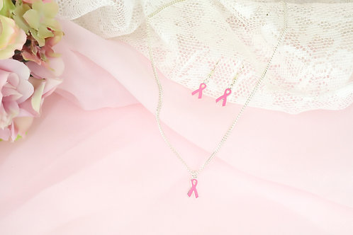 Silver Breast Cancer Gift Set - 3 PC
