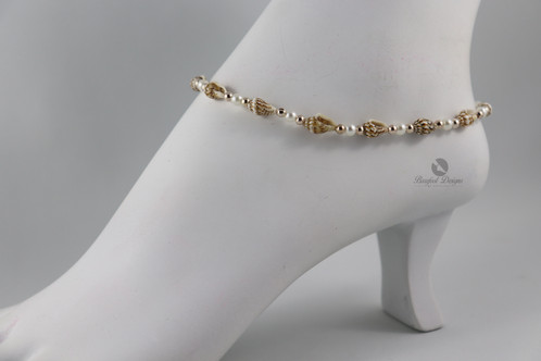 Real Seashell Rose Gold Anklet