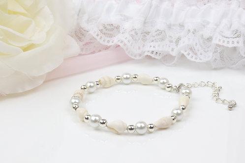 Layla - Real Shell Pearl Bracelet