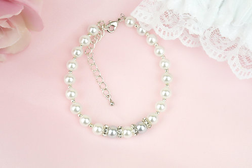 Bella - Pearls and Rhinestones Bracelet