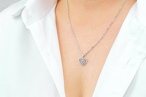 Heart of Love - Silver Necklace