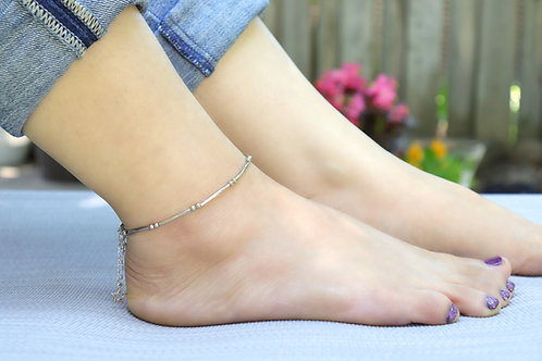 Anklet - Silver Tibetan Style Star
