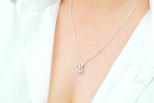 Bunny Ears - Silver Necklace