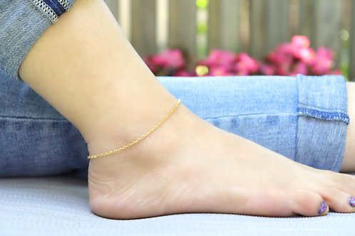 Anklet - Gold Minimalist Thin Chain