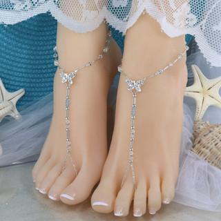 Crystal Bead Bridal Barefoot Sandal