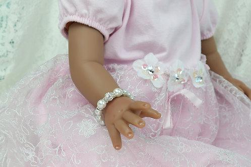 Bella - Newborn Baby Bling Pearl Bracelet