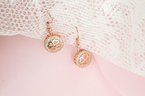Lucy - Rose Gold CZ Earrings