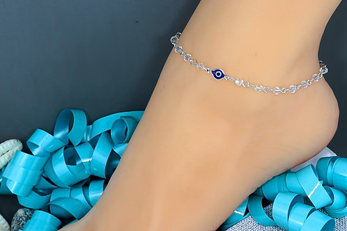 Blue Evil Eye Wholesale Anklet