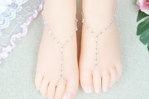 Mina - Baby Silver Swarovski Crystal Sandal