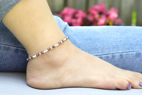 Anklet - Brown/Taupe Pearl
