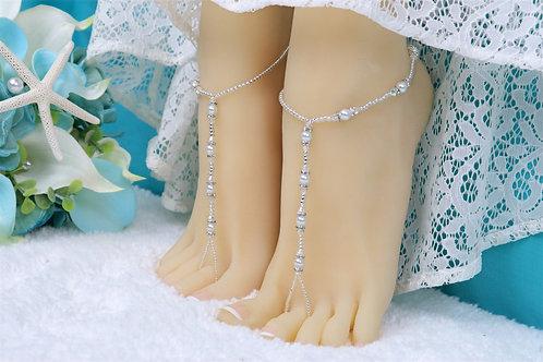 Kalena - AB Swarovski Crystal Barefoot Sandal