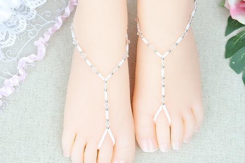 Baby Mina White - Swarovski Crystal Sandal