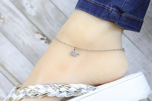 Anklet - Silver Mini Elephant Charm