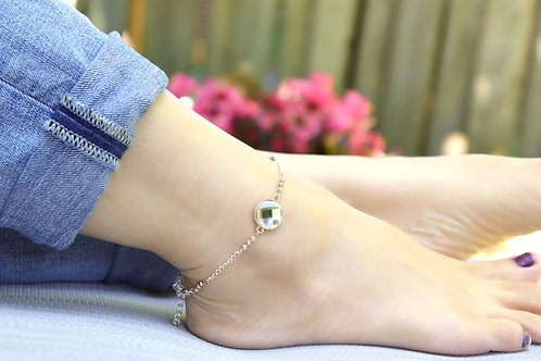 Anklet - Rose Gold Crystal Rhinestone