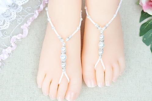 Bianca - Baby White Pearl Rhinestone Sandal