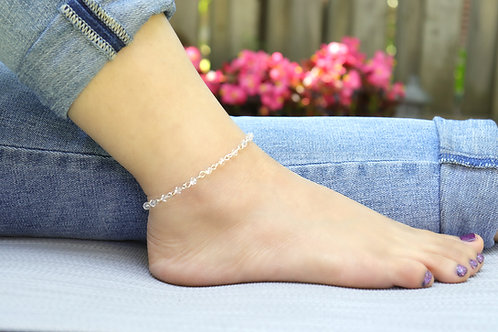 Anklet - Elegant Crystal Bead