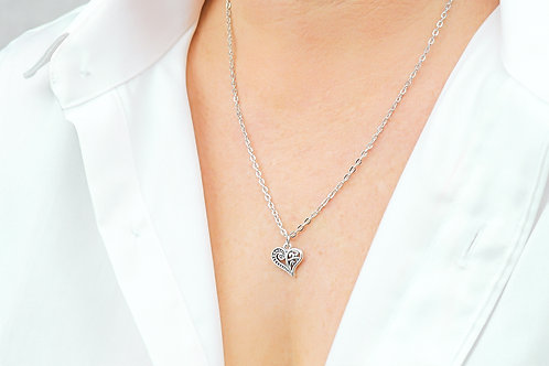 Heart of Wishes - Silver Necklace