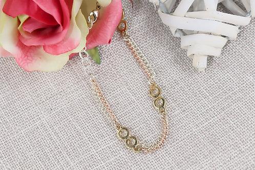 Bracelet - Infinity Rose Gold Silver Chain